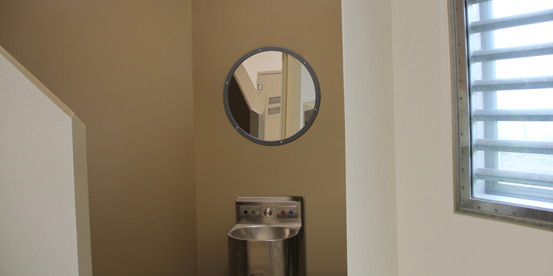 Maximum Round Secure Wall Mirror