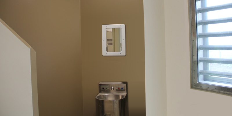 Medium Secure Wall Mirror Small Size