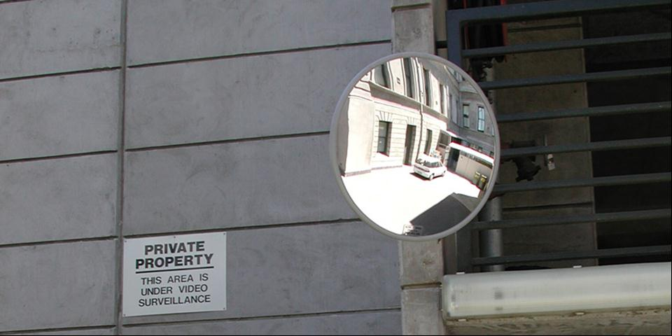 Heavy Duty Stainless Steel Convex Mirror