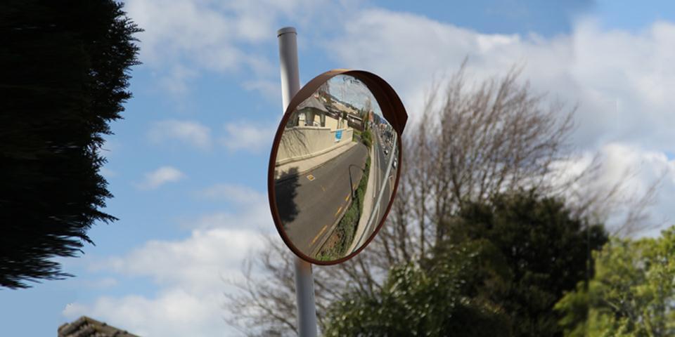 Outdoor Deluxe Acrylic Convex Mirror