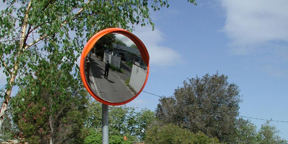 Outdoor Deluxe Stainless Steel Convex Mirror