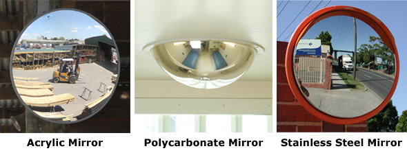 What Material Should Be Used For A Convex Mirror Face?